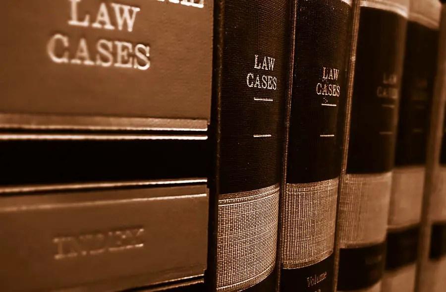 Law Books On A Shelf