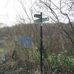 Blue Bell Hill Cycle Path Sign Post