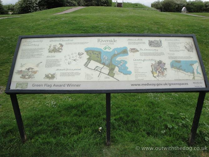 Riverside Country Park information board