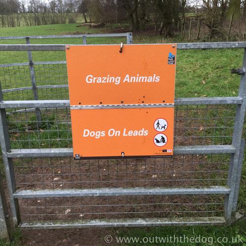 Queendown Warren - Cattle Grazing Sign