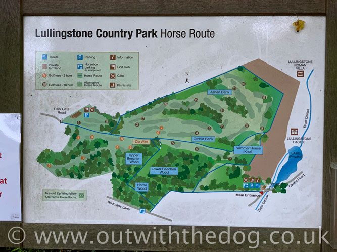 Lullingstone Country Park: Park map close up