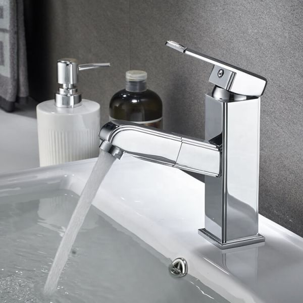 ouukey pull out chrome faucet
