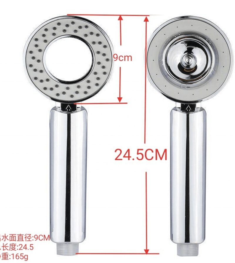 OuuKey double sides shower head