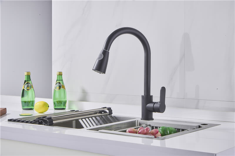 ouukey kitchen faucets with pull down sprayer