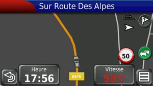 Le GPS indique que la vitesse limite de 50 km/h est dépassée. Crédit photo Calou71