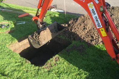 Op maat uitgraven