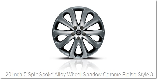 20 inch 5 Split Spoke Alloy Wheel Shadow Chrome Finish Style 3