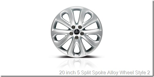 20 inch 5 Split Spoke Alloy Wheel Style 2