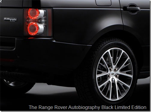 The Range Rover Autobiography Black Limited Edition - Diamond turned