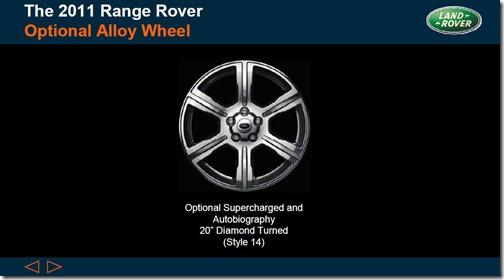 2011 Range Rover - Optional Alloy Wheels - Style 14