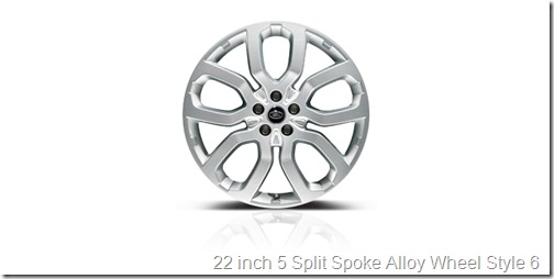 22 inch 5 Split Spoke Alloy Wheel Style 6