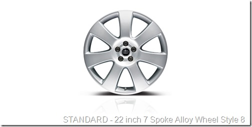 22 inch 7 Spoke Alloy Wheel Style 8