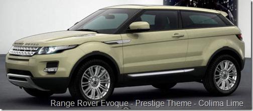 Range Rover Evoque - Prestige Theme - Colima Lime