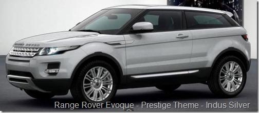 Range Rover Evoque - Prestige Theme - Indus Silver
