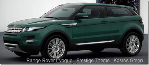 Range Rover Evoque - Prestige Theme - Kosrae Green