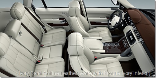Ivory Semi Aniline Leather seats (with Brogue-Ivory interior)