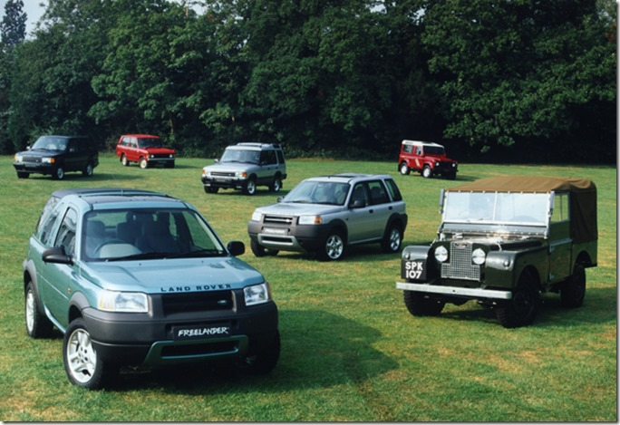 Freelander with other Land rover models