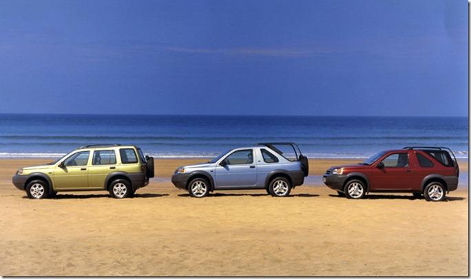 Land Rover Freelander V6Left to right:- 5 door Station Wagon, 3 door softback, 3 door hardback