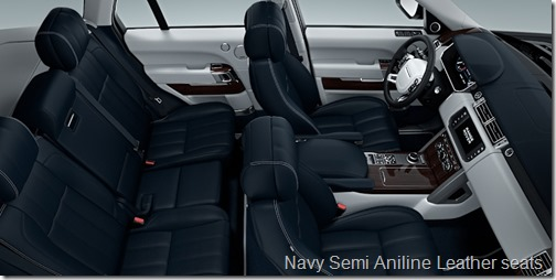 Navy Semi Aniline Leather seats