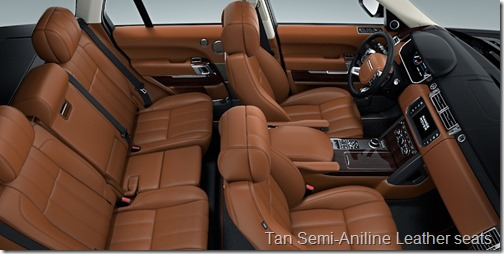 Tan Semi-Aniline Leather seats