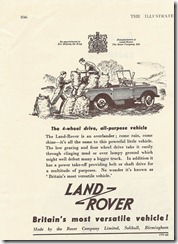 The Land-Rover is an overlander.