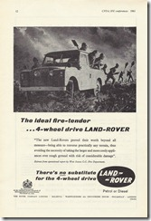 The ideal fire-tender - 4-wheel drive Land-Rover