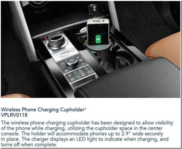 VPLRV0118 Discovery 5 Wireless phone charger Genuine LandRover mobile