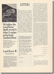 We believe the Land Rover depth record...