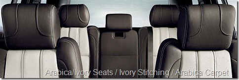 Arabica-Ivory Seats-Ivory Stitching-Arabica Carpet