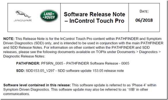 InControl Touch Pro (Duo) Phase 4, version 18B Release Notes