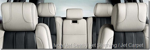 Ivory-Jet Seats-Jet Stitching-Jet Carpet