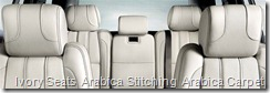 Ivory Seats  Arabica Stitching  Arabica Carpet