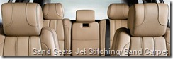 Sand Seats  Jet Stitching  Sand Carpet