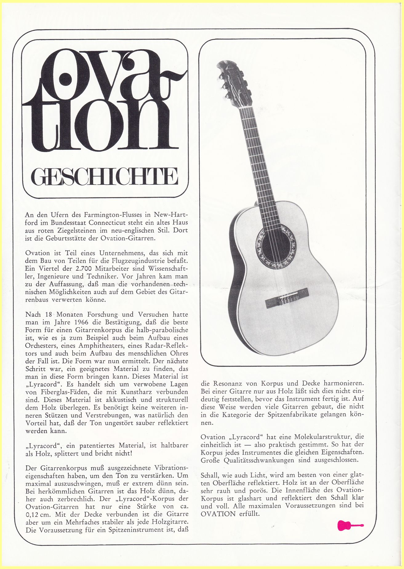 Ovation Early 70's German Catalog