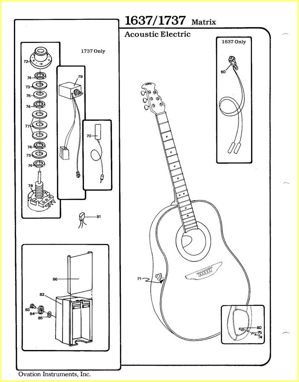 Ovation Preamp Schematic
