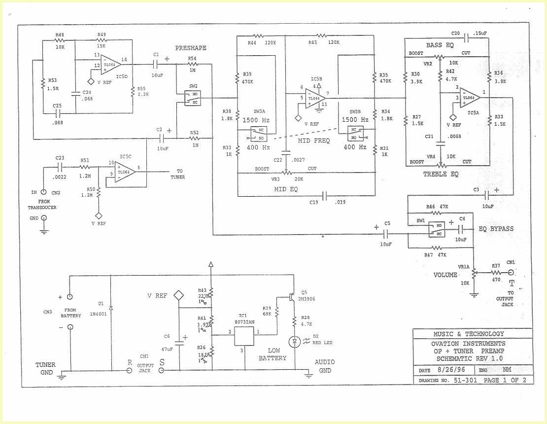 hight resolution of ovation preamp schematic wiring diagram forward ovation preamp schematic