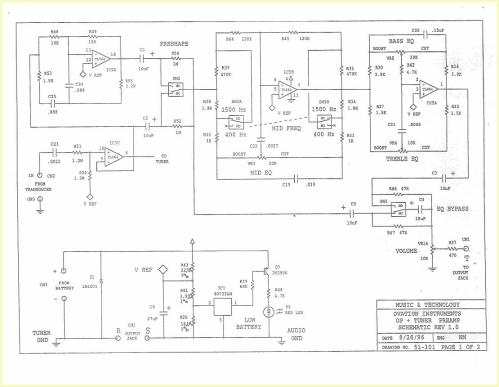 small resolution of ovation preamp schematic wiring diagram forward ovation preamp schematic