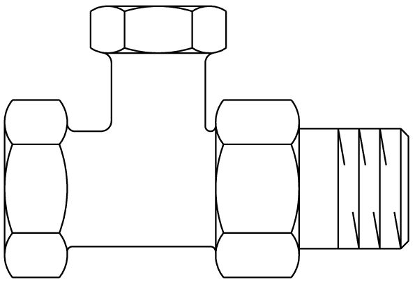 Radiator lockshield valve