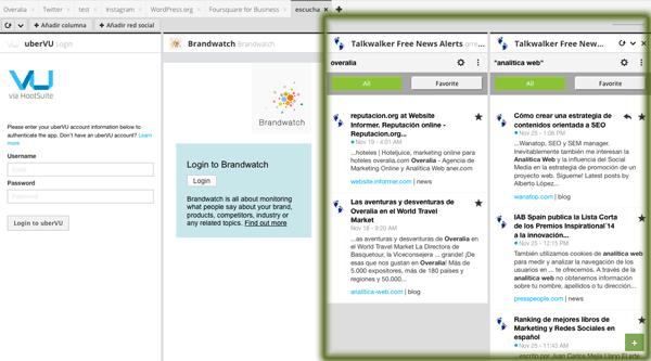 Herramientas de monitorización en Hootsuite