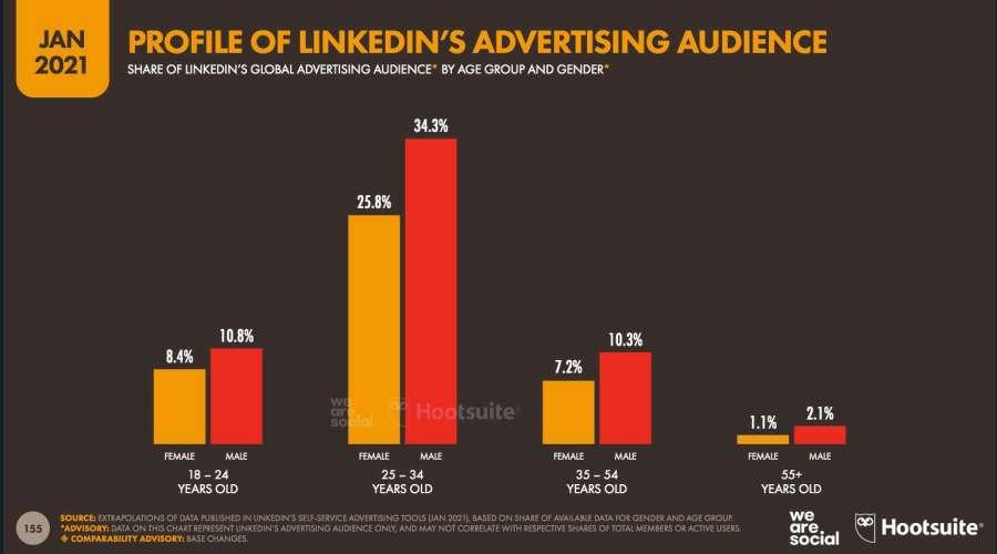 Datos demográficos de LinkedIn
