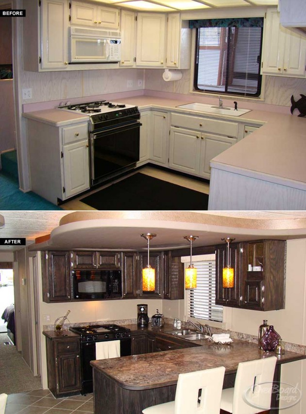 kitchen cabinets online design gray wash overboard designs - houseboat renovations | marine ...