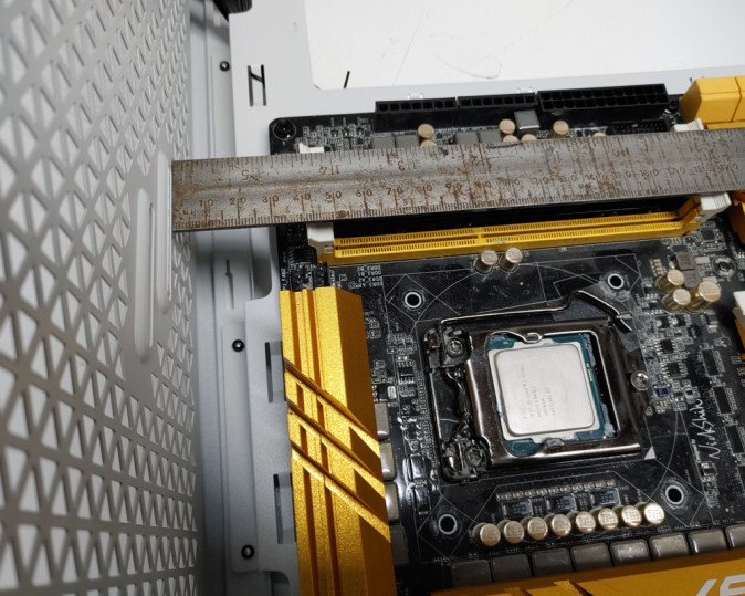 Upper Clearance to Motherboard