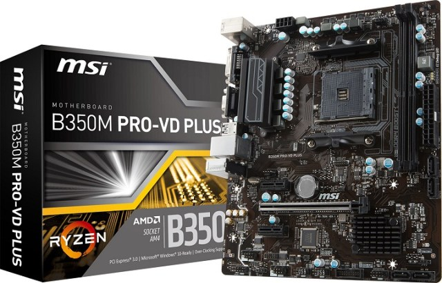 MSI B350 Pro-VD Plus