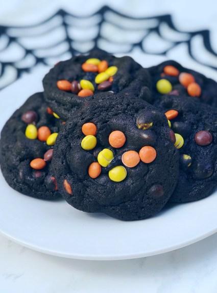 double chocolate halloween cookies