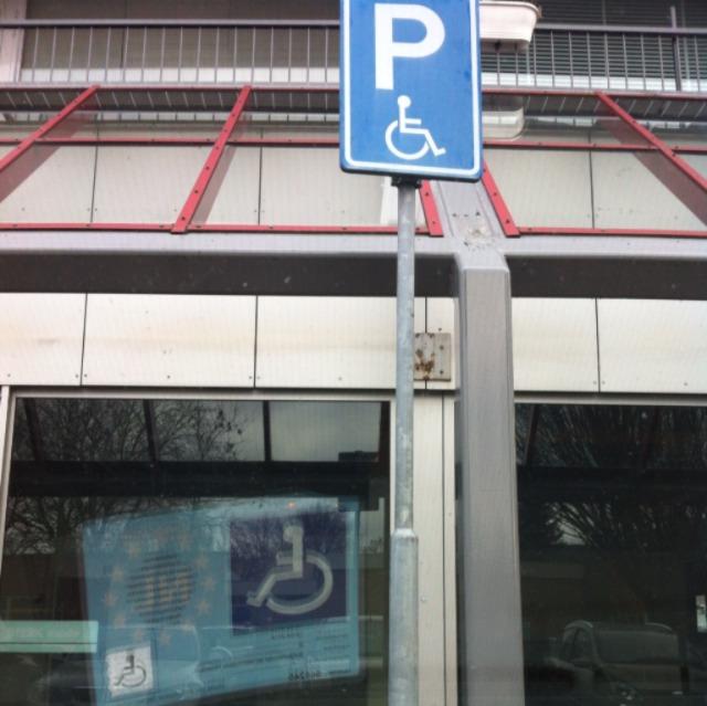 gehandicapten parkeerkaart en bord, De Meern, Overhaar blog, digitaal parkeren