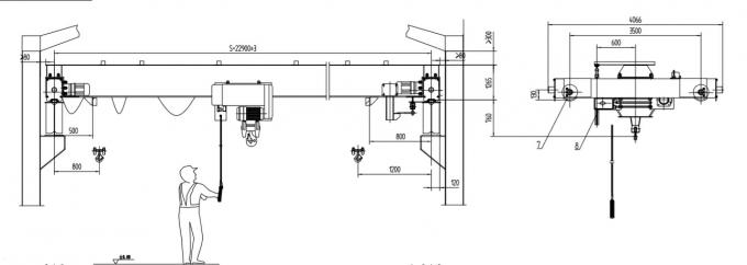 LDX 8T-15m SA2.5 Single Girder Overhead Cranes High Work