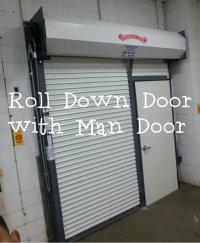 Roll Down Door with Man Door