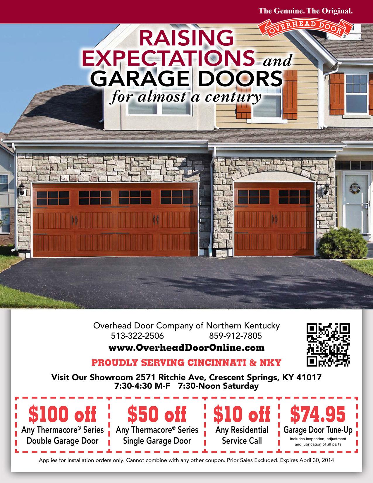 Garage Door Coupons Cincinnati  Overhead Door Northern