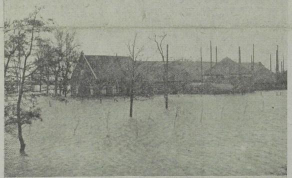 Niet ver van het Westland, tussen Hoek van Holland en Maassluis waren polders ondergelopen