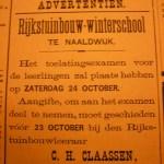 Deze advertentie moest leerlingen oleveren (klik erop om hem te lezen)